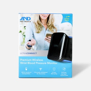 A&D UltraConnect Wireless Wrist Blood Pressure Monitor