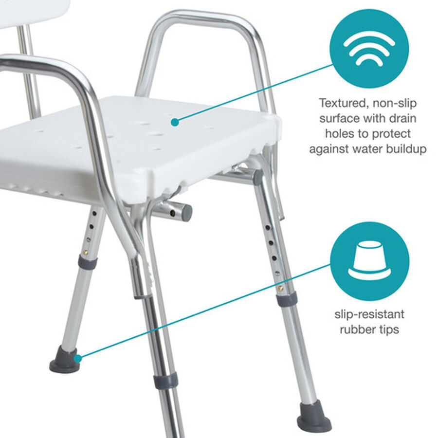 DMI® Heavy Duty Bath and Shower Chair, , large image number 2