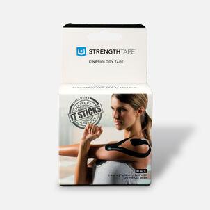 StrengthTape Kinesiology Precut Tape, Black, 20 ct