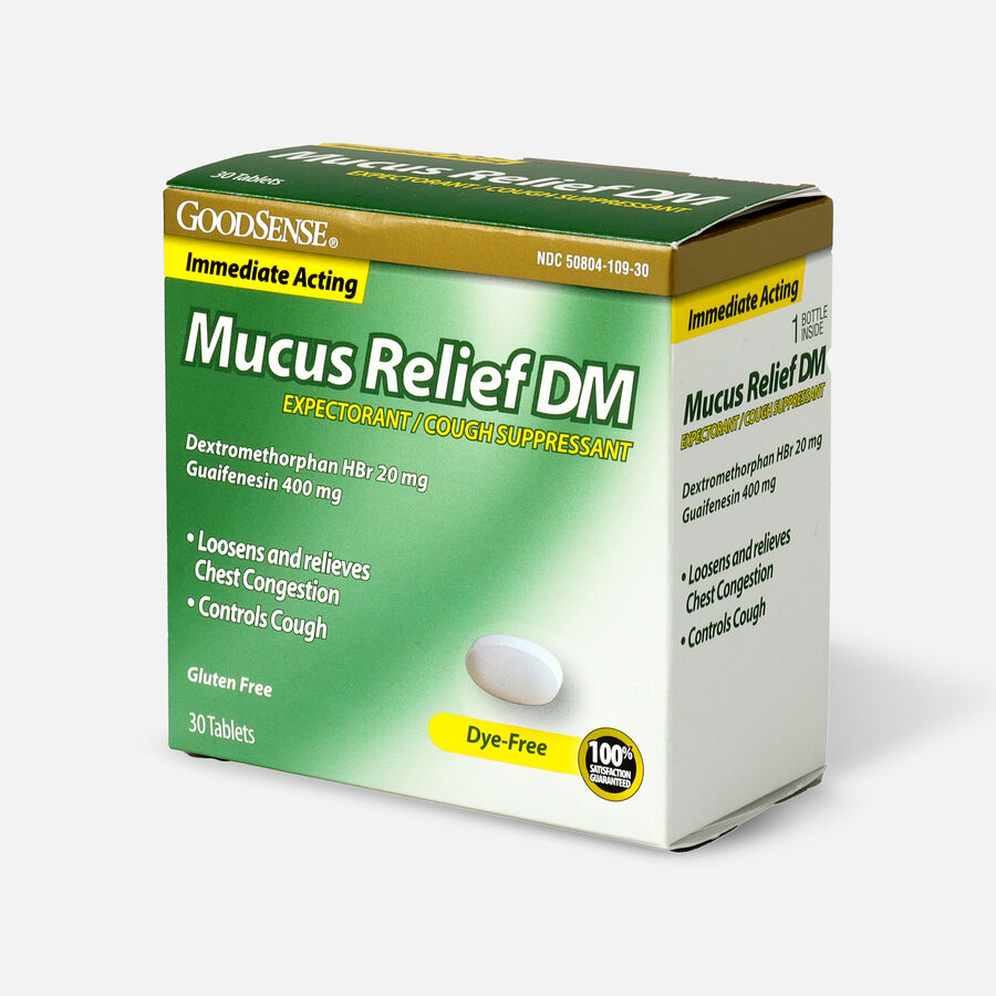 GoodSense® Immediate Acting Mucus Relief DM Tablets, 400 mg/20 mg, 30 ct, , large image number 2