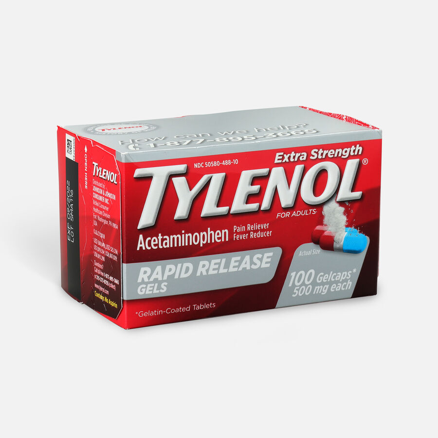 Tylenol Extra Strength Rapid Release Gels, 100 ct, , large image number 2
