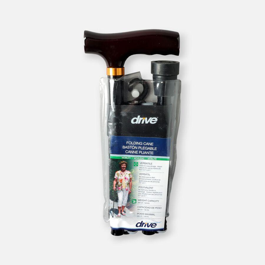 Drive Medical Designer Folding Cane Adjustable Black, 1 ea, , large image number 2