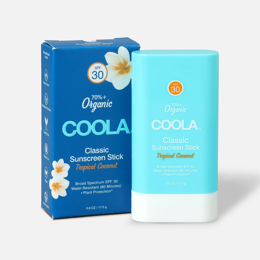 Coola Classic Organic Sunscreen Face & Body Stick SPF 30 Tropical Coconut, , large image number 0