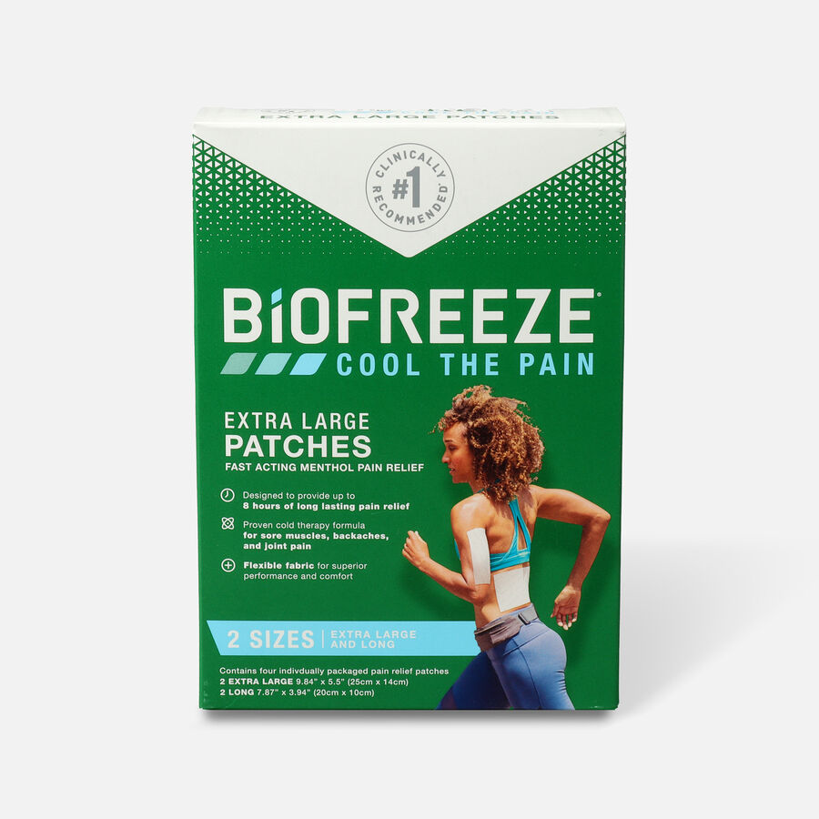 Biofreeze Extra Large Pain Relief Patch, Variety Pack, 4 pc, , large image number 0