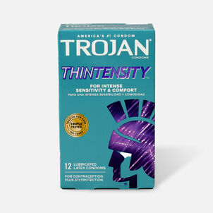 Trojan Thintensity UltraSmooth, Lubricated Latex Condoms, 12 ea