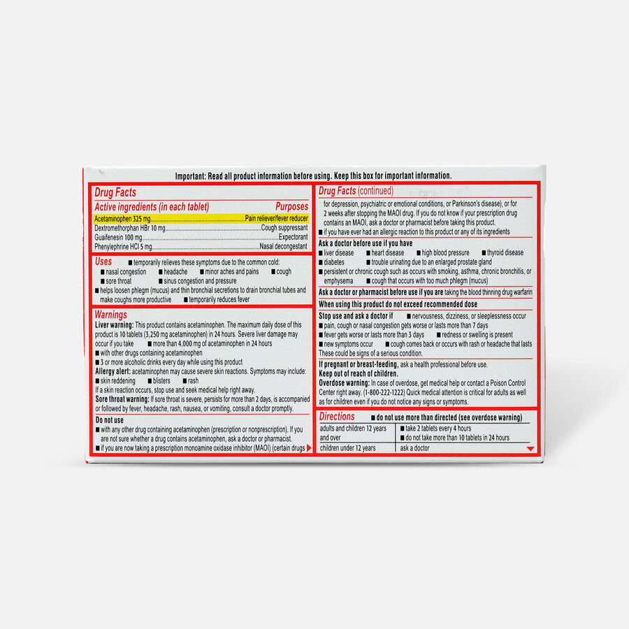 Sudafed PE Sinus Head Congestion + Flu Severe Non-Drowsy Tablets 24 ct, , large image number 1