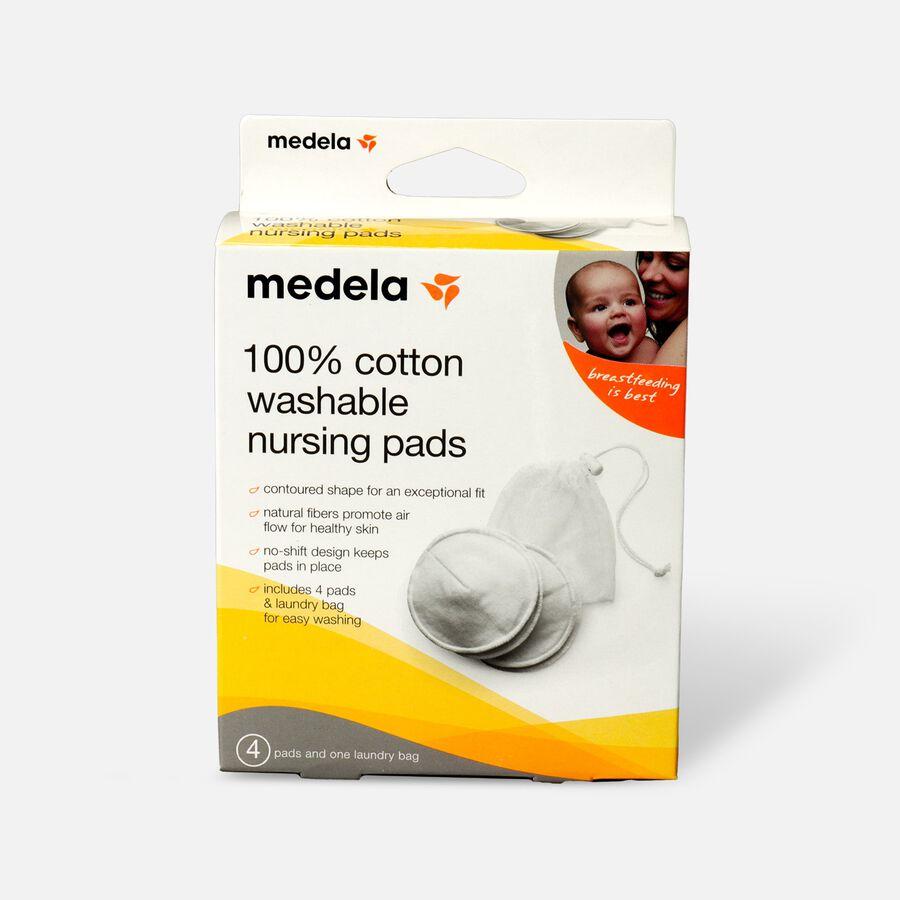 Medela 100% Cotton Washable Nursing Bra Pads, 4 ea, , large image number 0