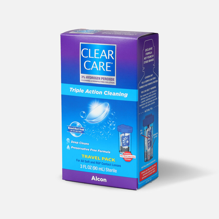 Clear Care Triple Action Cleaning Contact Travel Pack 3 oz, , large image number 2