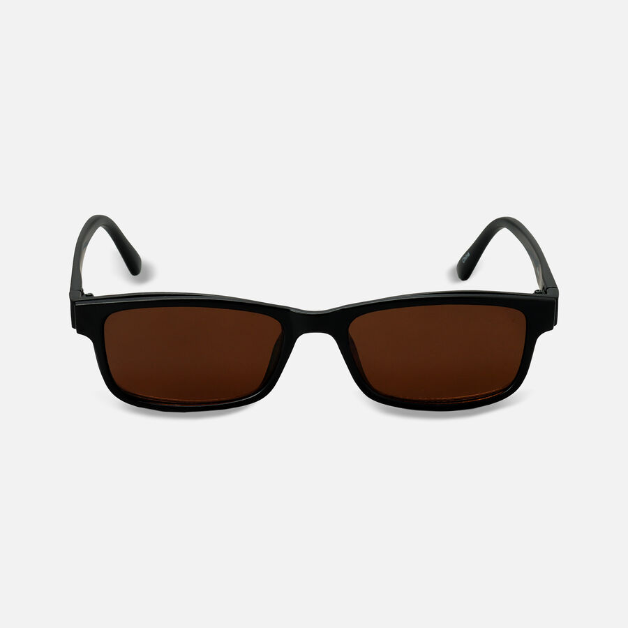 Sunglass Reader with Magnetic Detachable Polarized Lens, +1.50, Black/Brown, Black/Brown, large image number 0