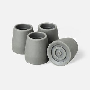 """Medline Walker tips 1"""", 4 pack-Gray, G01202"""