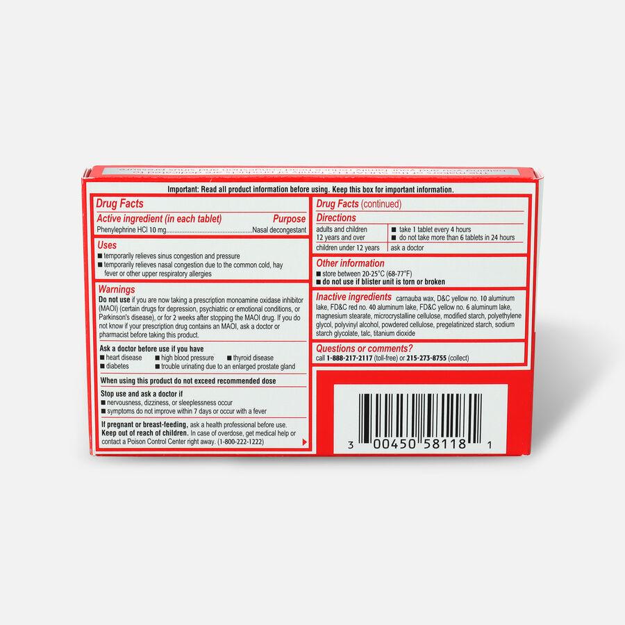 Sudafed PE Sinus Congestion Tablet, 18ct, , large image number 1