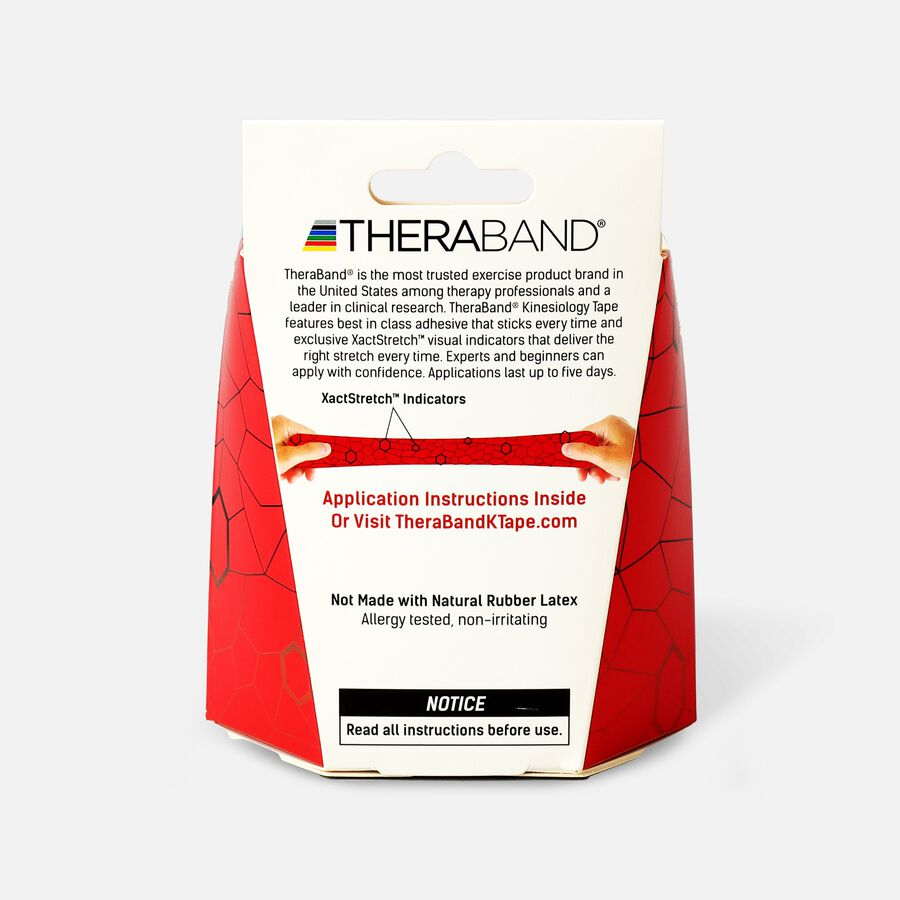 Theraband® Kinesiology Tape Precut Roll Red/Black, 20 ct, , large image number 1