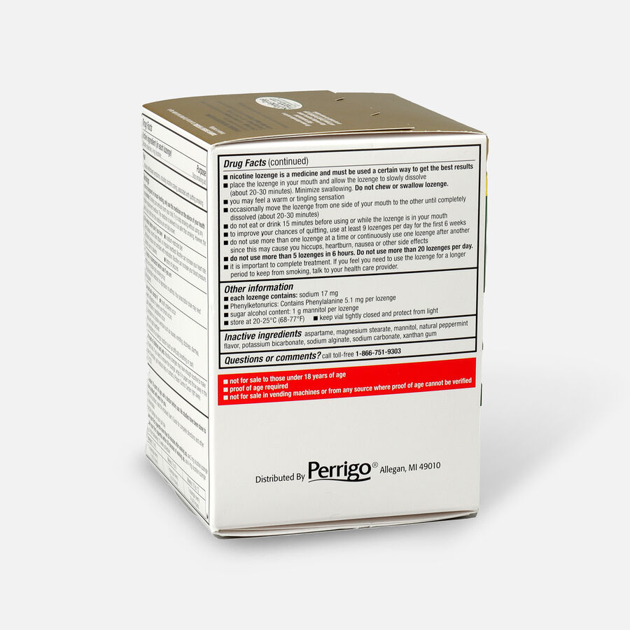 GoodSense® Nicotine Polacrilex Lozenges, 4 mg (nicotine), Mint Flavor,72 ct, , large image number 3