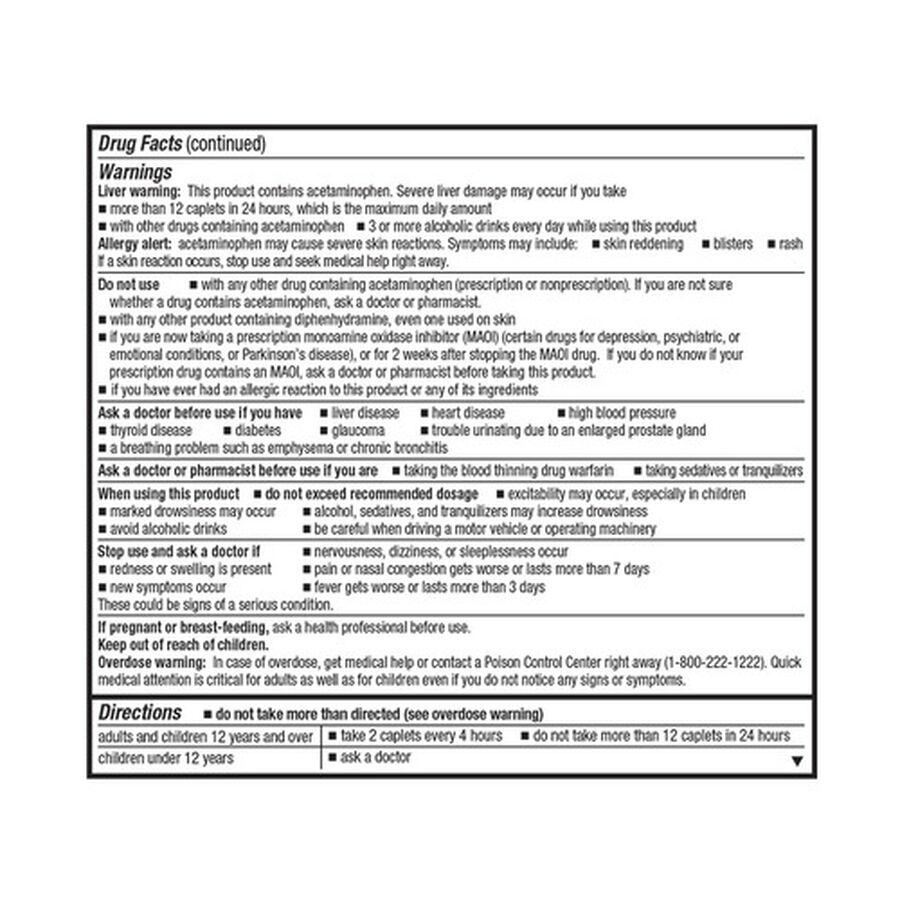 GoodSense® Severe Allergy Relief Plus Sinus Headache Caplets, 20ct , , large image number 1