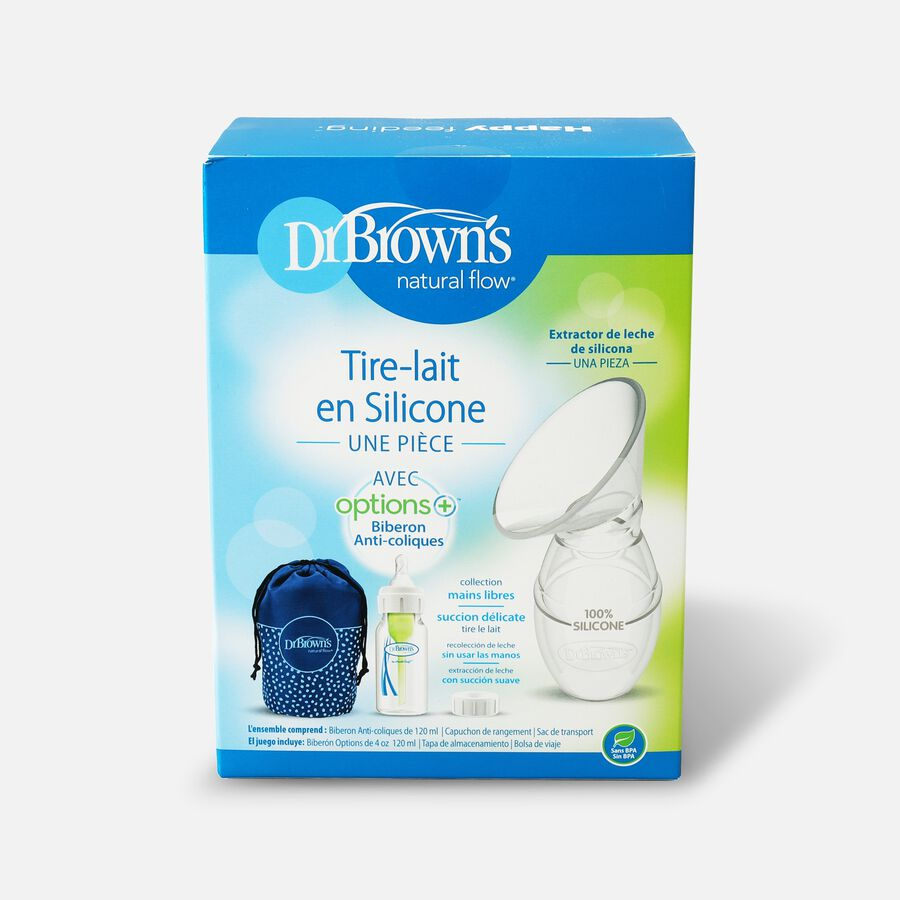 Dr. Brown's™ Silicone One-Piece Breast Pump with Travel Bag, , large image number 1