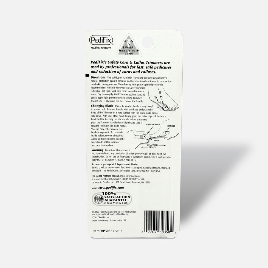 Pedifix Pedi-Quick Safety Corn & Callus Trimmer, , large image number 1
