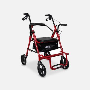 Drive Duet Rollator/Transport Chair, Burgundy