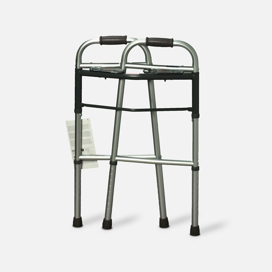 Guardian Easy Care Folding Walker with Out Wheels for Adults 30755p 1 Ea, , large image number 1