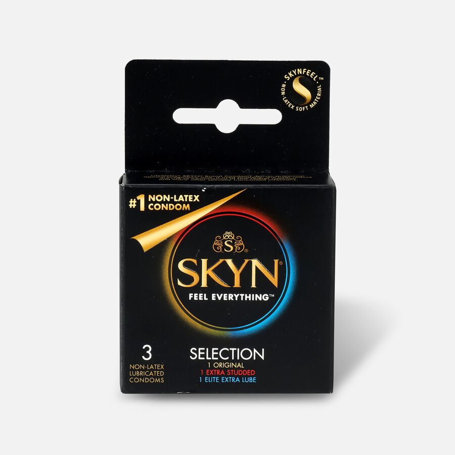 LifeStyles SKYN Non-Latex Condom Selection, 3 Count, , large image number 0