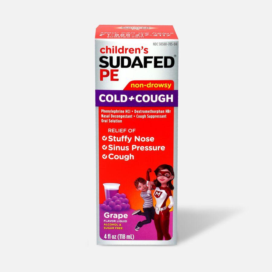 Children's Sudafed PE Oral Solution, Non-Drowsy, Grape Flavor, 4 fl oz, , large image number 0