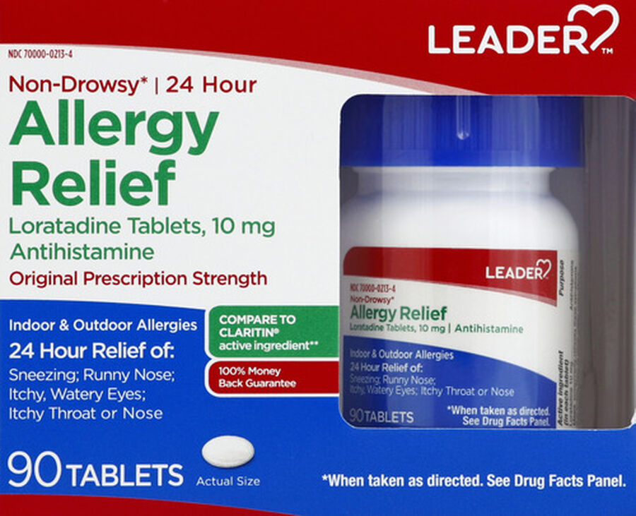 LEADER™ Allergy Relief 24 Hour 10mg Tablets 90 ct, , large image number 0