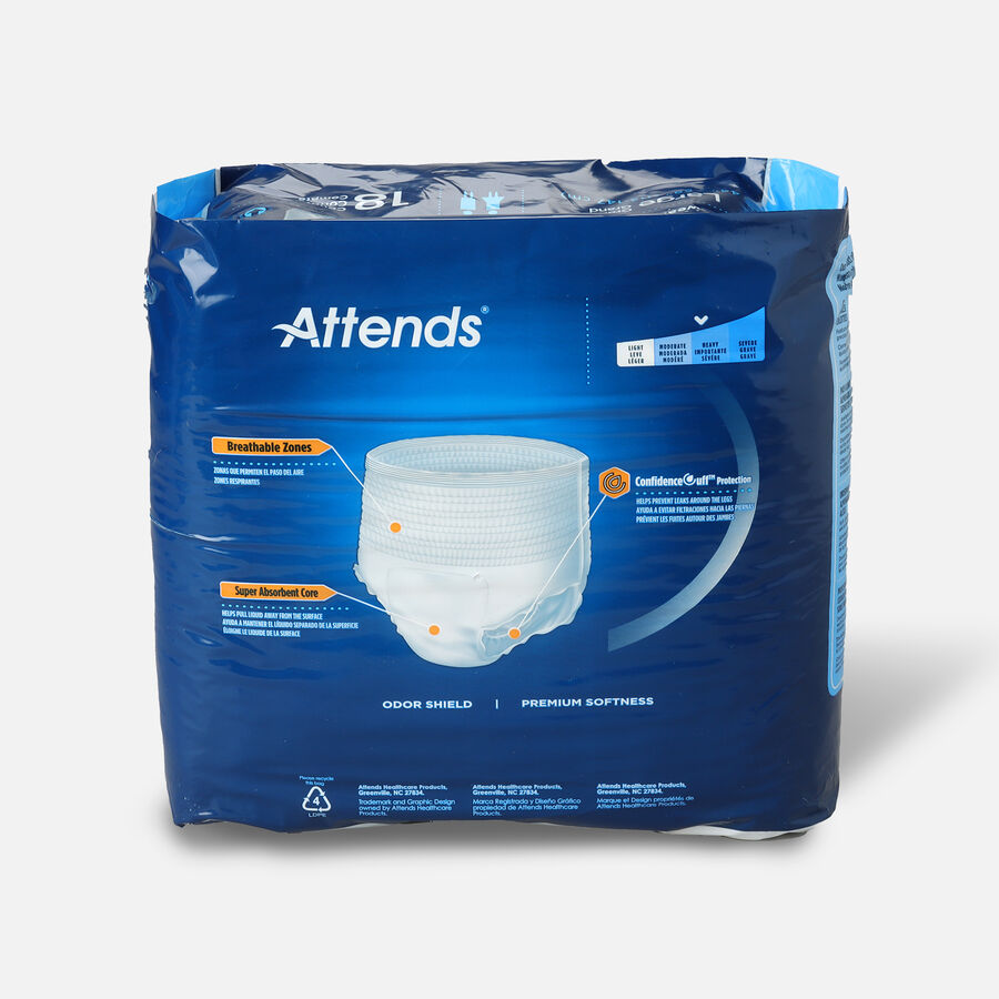"""Attends Adult Extra Absorbency Protective Underwear Large 44"""" - 58"""" (Pack of 18), , large image number 1"""