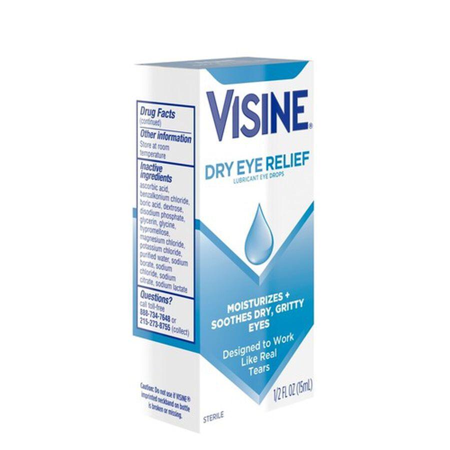 Visine Dry Eye Relief Lubricating Eye Drops for Dry Eyes, 0.5 fl. oz, , large image number 5