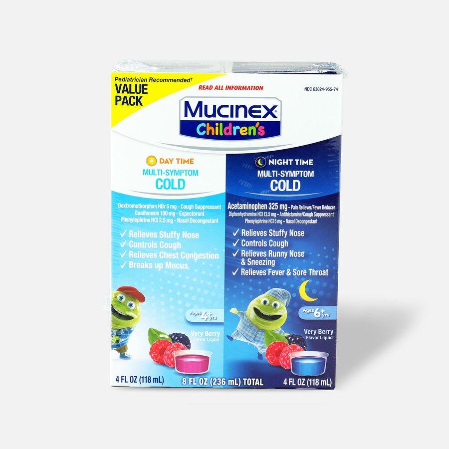 Mucinex Children's Multi-Symptom Liquid Day Night 4 oz - 2-Pack, , large image number 0