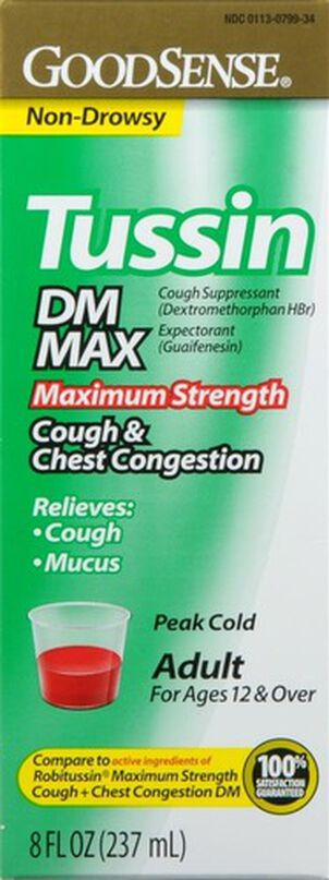 GoodSense® Tussin DM Max Cough & Chest Congestion 20 MG/400MG 8 oz