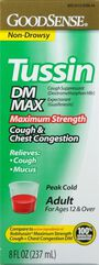 GoodSense® Tussin DM Max Cough & Chest Congestion 20 MG/400MG 8 oz, , large image number 0
