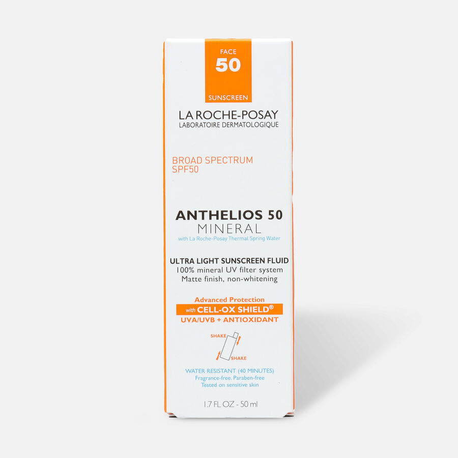 La Roche-Posay Anthelios 50 Mineral Sunscreen Ultra-Light Fluid for Face, SPF 50 with Zinc Oxide and Antioxidants, 1.7 Fl. Oz., , large image number 0