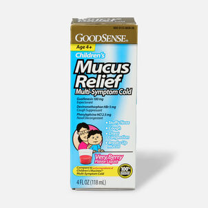 GoodSense® Children's Mucus Relief Multi-Symptom Berry Flavor, 4 fl oz