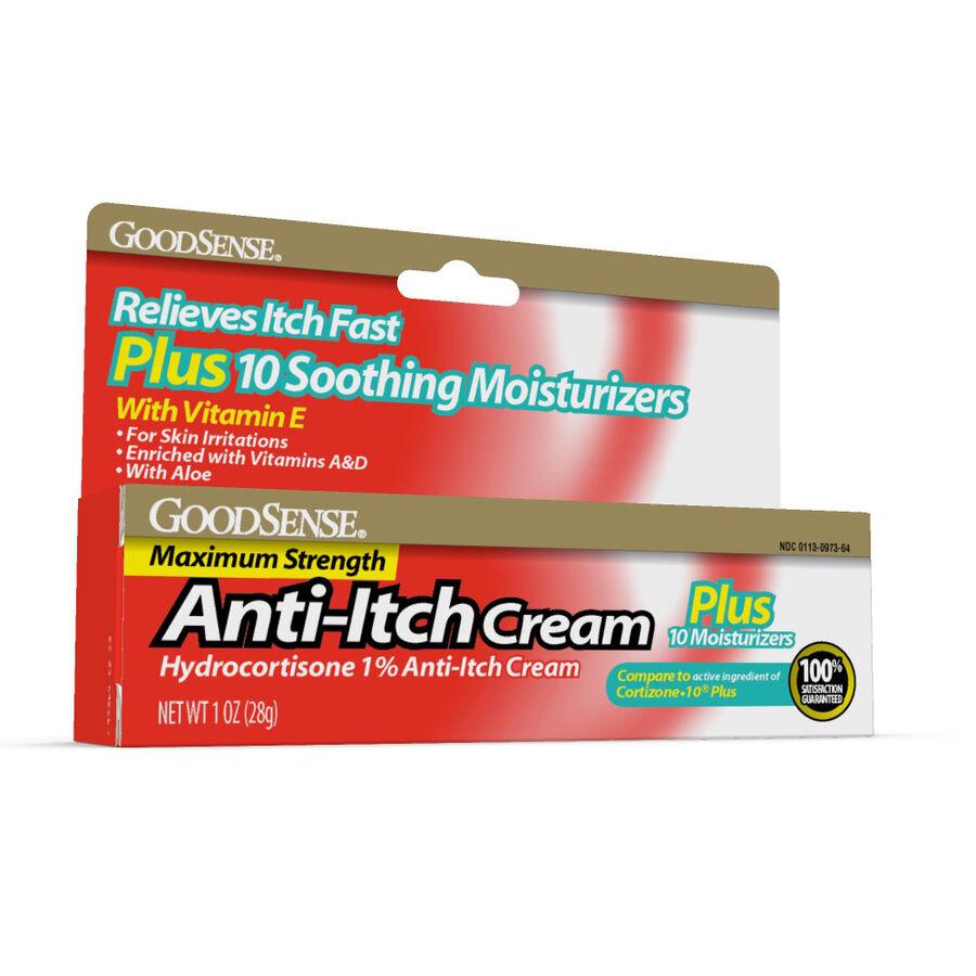 GoodSense® Hydrocortisone 1% Plus Cream Max Strength, 1 oz, , large image number 0