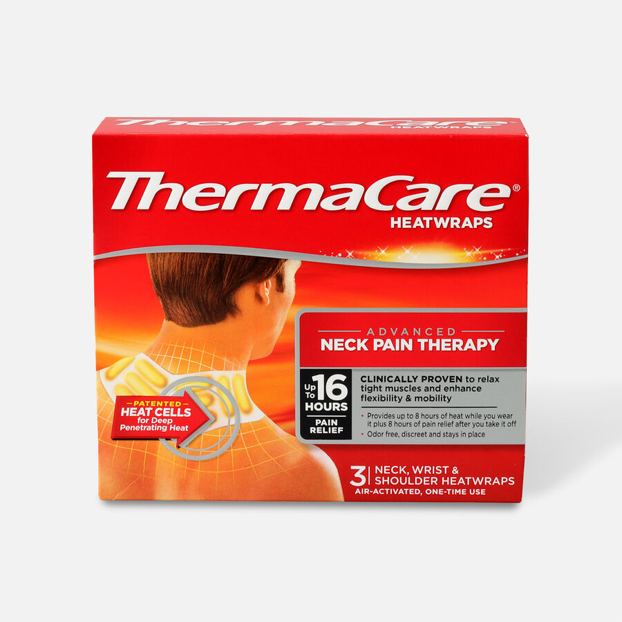 Thermacare Heat Wrap Neck, Shoulder and Wrist, 8HR, 3 ct, , large image number 0