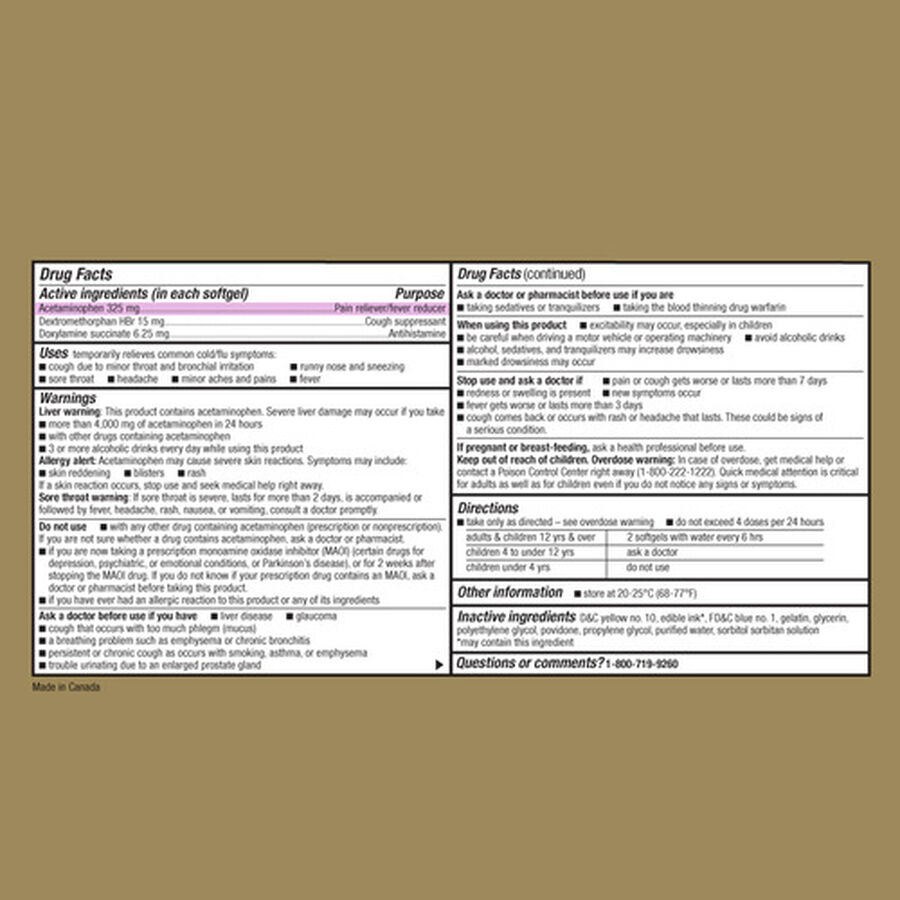 GoodSense® Night Time Cold & Flu Multi Symptom Softgels, 16 ct, , large image number 2