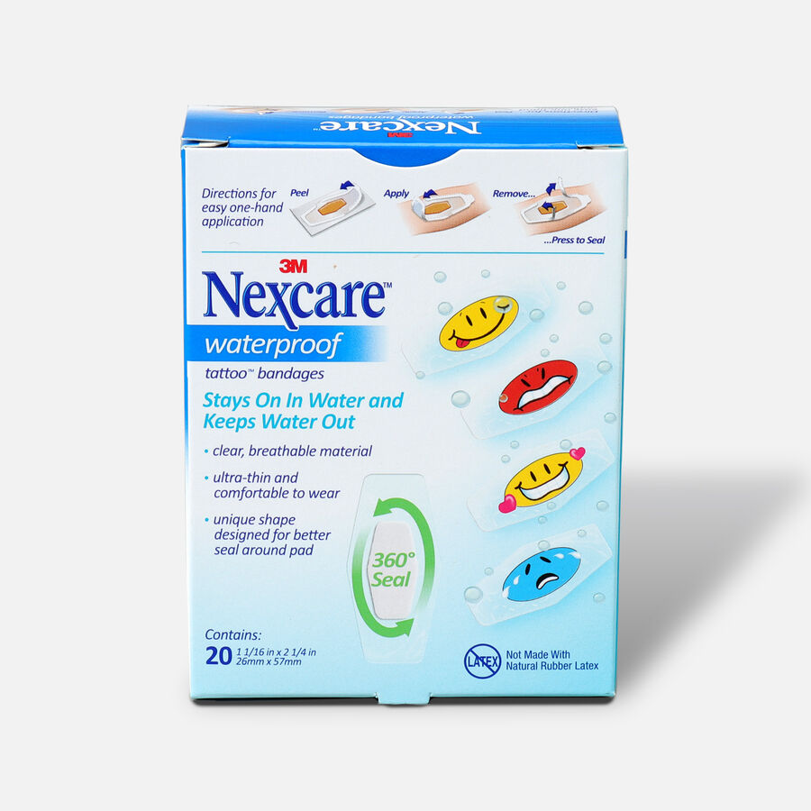 Nexcare Kids Bandages, Tattoo Waterproof, 20 ea, , large image number 1
