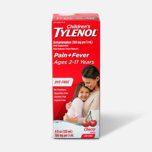 Tylenol Children's Pain and Fever Reliever, Dye Free Cherry Flavor, 4 fl oz