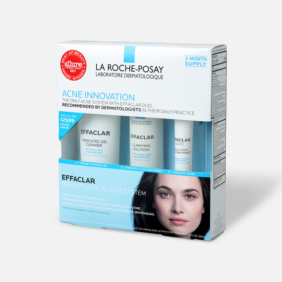La Roche-Posay Effaclar Dermatological 3-Step Acne Treatment System, , large image number 2