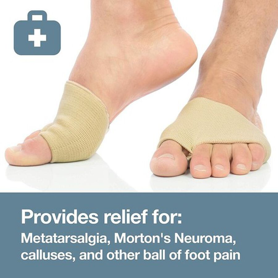 ZenToes Fabric Metatarsal Sleeve with Sole Cushion Gel Pads - 4 Pack, , large image number 4