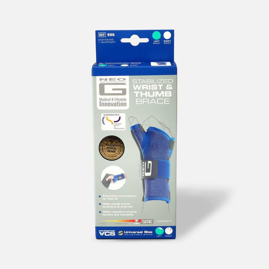 Neo G Stabilized Wrist & Thumb Brace, One Size, Left, , large image number 0