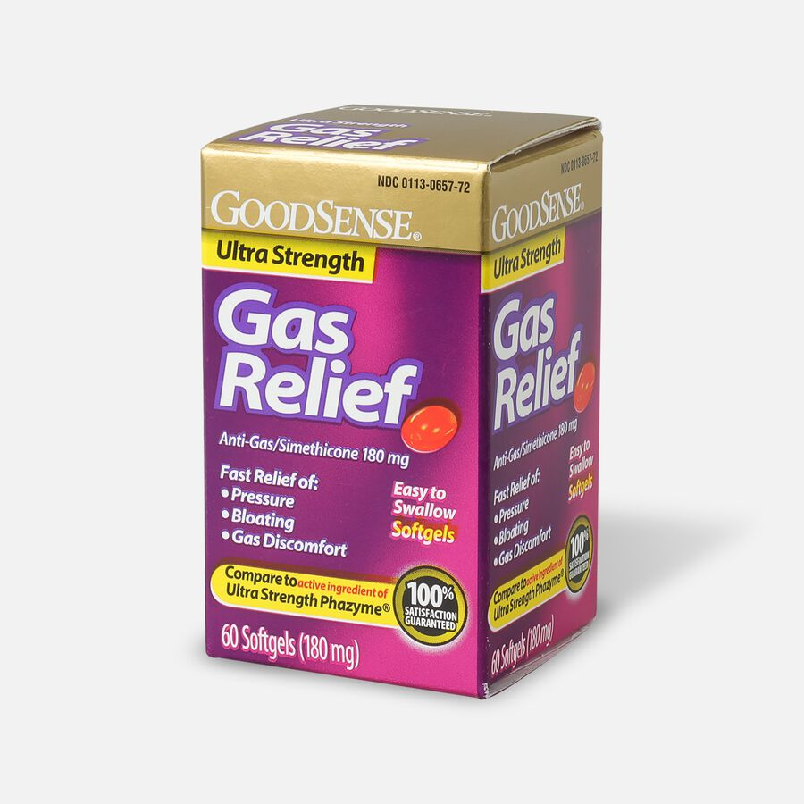 GoodSense® Gas Relief Ultra Strength Simethicone 180 mg Softgels, 60 ct, , large image number 1