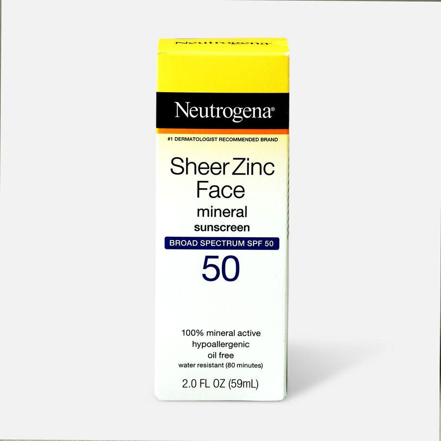 NEUTROGENA SHEER ZINC™ Face Dry-Touch Sunscreen Broad Spectrum SPF 50, 2 Fl. Oz., , large image number 1