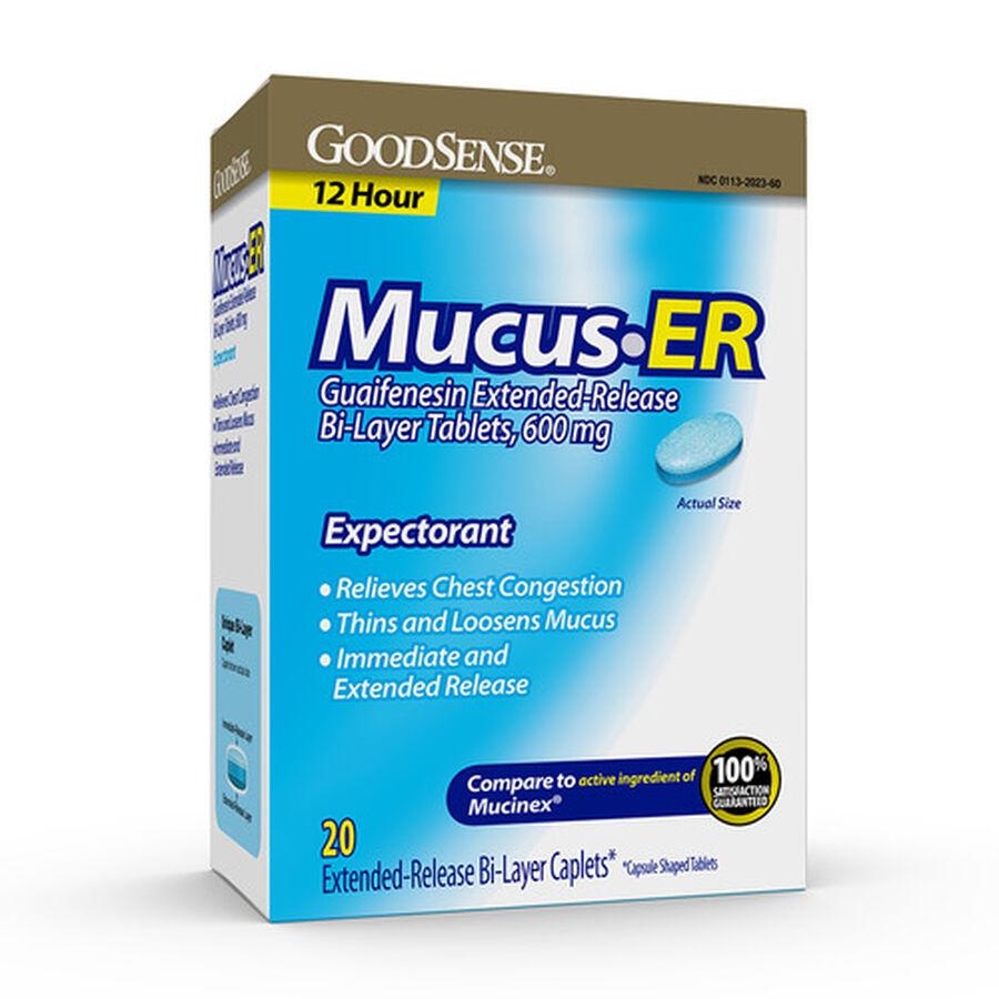 GoodSense® Mucus ER 600MG Bi Layer Tablets, 20 count, , large image number 0