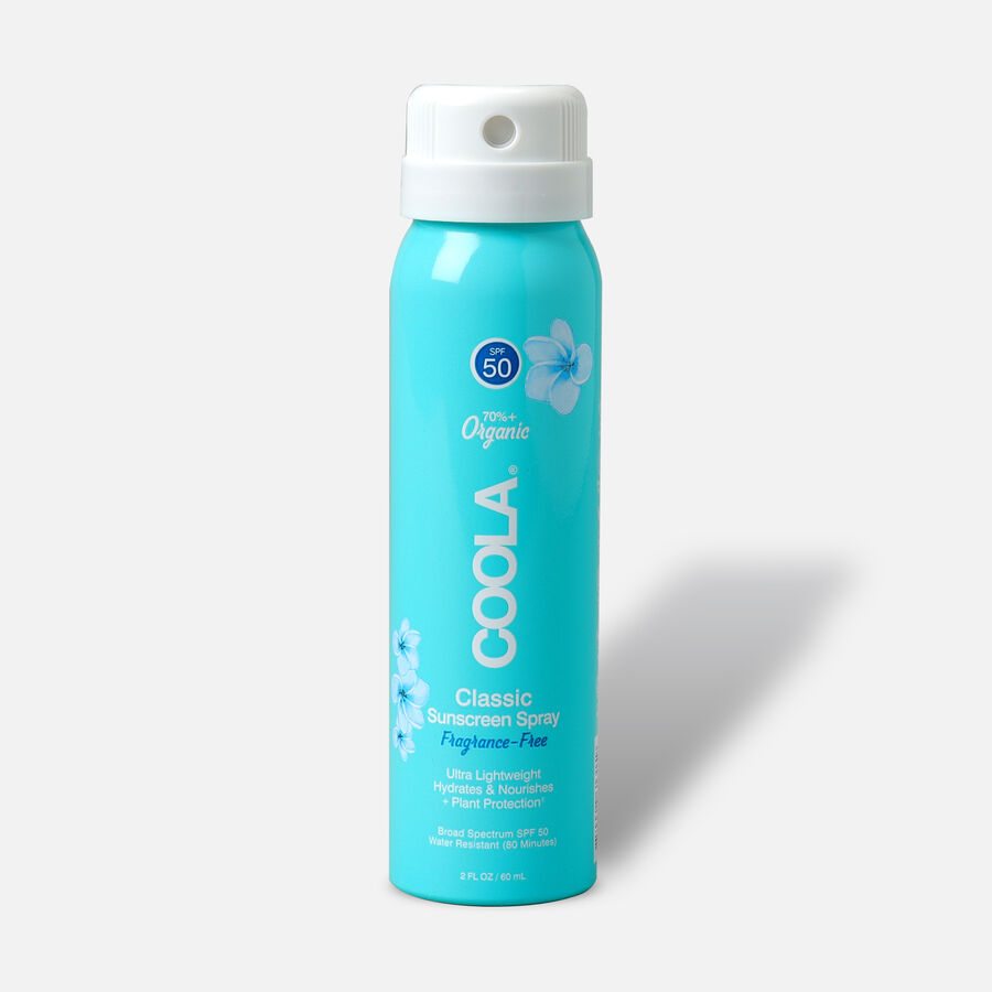 Coola Classic Body Organic Sunscreen Spray SPF 50, Unscented - Travel Size, , large image number 0