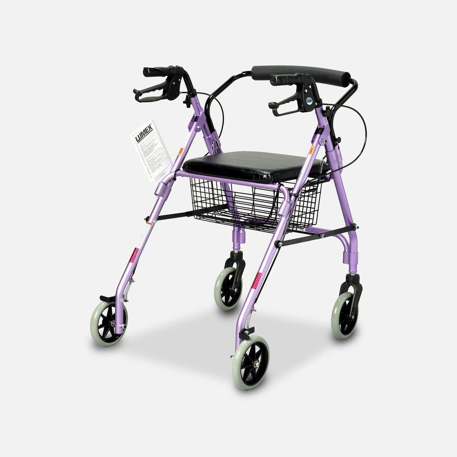 "Walkabout Lite Four- 6"" Wheels Rollator, Lavender, , large image number 1"