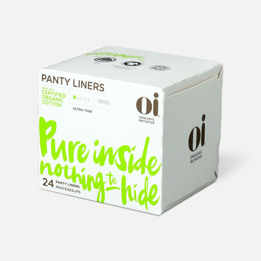 Oi Organic Cotton Ultra Thin Panty Liners, 24ct, , large image number 2