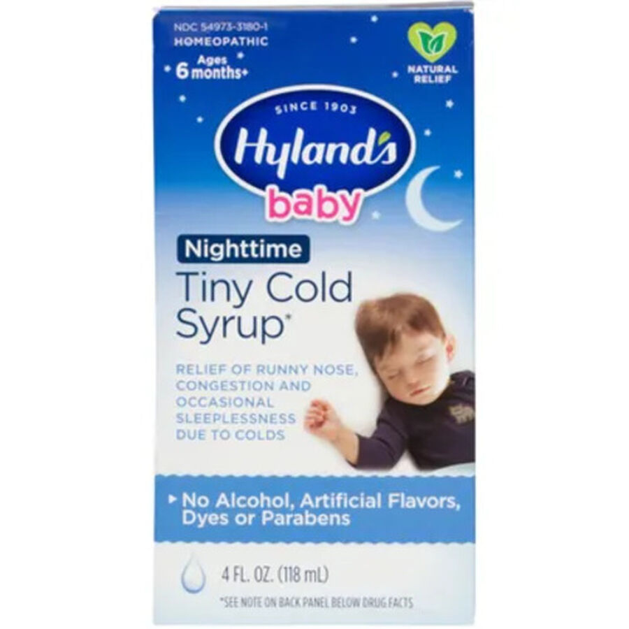 Hyland's Baby Nighttime Tiny Cold Syrup, 4 oz, , large image number 0