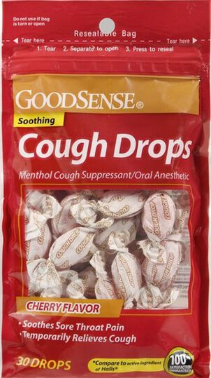 GoodSense® Cough Drops Cherry 30 ct
