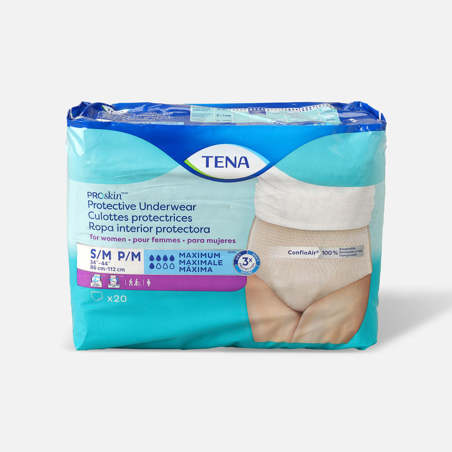 TENA ProSkin™ Protective Incontinence Underwear for Women, Maximum Absorbency,  Small/Medium, 20 Count, , large image number 0