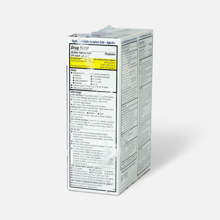 Mucinex Children's Multi-Symptom Liquid Day Night 4 oz - 2-Pack, , large image number 3